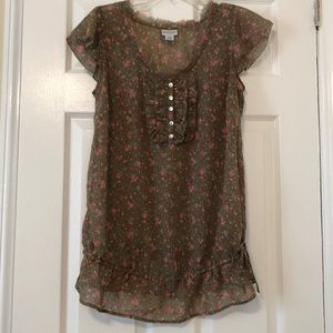 Motherhood Maternity Floral Blouse - size medium